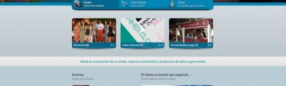 Diseño Pagina Web a «Blanko Evento»