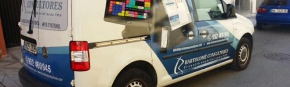 Rótulacion furgoneta Comercial Bartolome