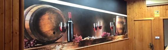 Murales decorativos y Banderola luminosa Bar D-Gusto Fuengirola