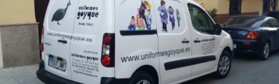 Rótulacion vehiculo uniformes Goyque