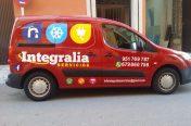 Rotulación Furgoneta Integrália Servicios