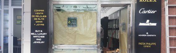 Forrado Fachada en composite Joyeria A. Garrido Fuengirola